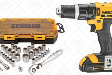 Save $46 On a DEWALT Hammer Drill/Driver, Plus a Free Bonus Socket Set, Today Only on Amazon