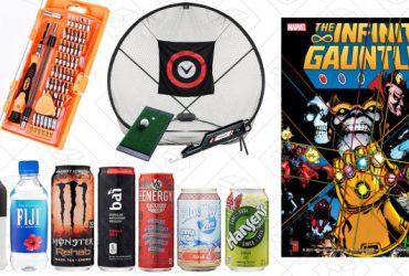 Today's Best Deals: Marvel Comics, Golf Practice Set, Beverage Samples, and More
