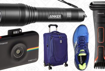 Today's Best Deals: Anker Flashlights, Luggage, Running Shoes, and More