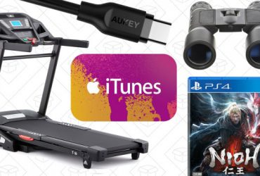 Saturday's Best Deals: Adidas Treadmill, iTunes Credit, Nioh, and More