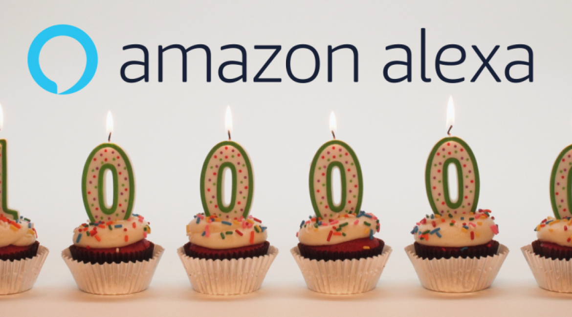 Celebrating 100,000 Alexa Skills -100,000 Thank Yous to You