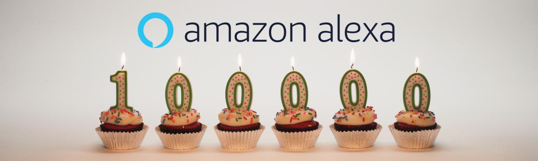 Celebrating 100,000 Alexa Skills -100,000 Thank Yous to You